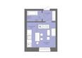 Жилой комплекс Да Винчи, дом 7: 1-комнатная студия 31,4 кв.м