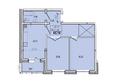 Жилой комплекс КОРИЦА, дом 3: 2-комнатная 65,18 кв.м.