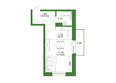 Life (Лайф), дом 2, б/с 3: 1-комнатная 37,74 кв.м