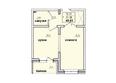 Жилой комплекс КОРИЦА, дом 2: 1-комнатная квартира 40,85 кв.м