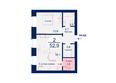 Жилой комплекс SCANDIS (Скандис), дом 5: Планировка двухкомнатной квартиры 52,9 кв.м
