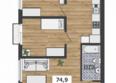 ФРАНЦУЗСКИЙ КВАРТАЛ, дом 56: 4-комнатная 2-3 этаж