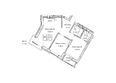 Жилой комплекс ГУДИМОВ: Планировка трехкомнатной квартиры 61,2 кв.м
