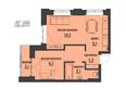 АКАДЕМИЯ, 1 корпус: 2-комнатная 46,22 кв.м
