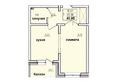 Жилой комплекс КОРИЦА, дом 1: 1-комнатная 40,85 кв.м
