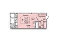 Жилой комплекс НА ДУДИНСКОЙ, дом 2 : Планировка однокомнатной квартиры 30,85 кв.м