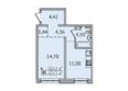 SUNCITY (Сан Сити), дом 6: 1-комнатная 40,43 кв.м