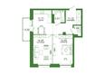 Life (Лайф), дом 2, б/с 2: 3-комнатная 60,25 кв.м