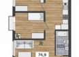 ФРАНЦУЗСКИЙ КВАРТАЛ, дом 50: 4-комнатная 2-3 этаж