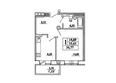 САДОВЫЙ, дом 10: Планировка однокомнатной квартиры 36,77 кв.м