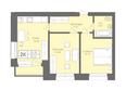 Жилой комплекс Да Винчи, дом 6: 2-комнатная 59,37 кв.м