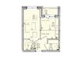 Жилой комплекс КОРИЦА, дом 2: 1-комнатная квартира 37,06 кв.м