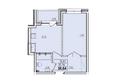 Жилой комплекс КОРИЦА, дом 2: 1-комнатная квартира 38,64 кв.м