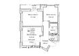 ГУДИМОВ: Планировка трехкомнатной квартиры 55,4 кв.м