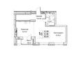 Жилой комплекс ЯДРИНЦЕВСКИЙ КВАРТАЛ: 1-комнатная студия 53,8 кв.м. Блок-секция 1