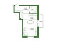 Life (Лайф), дом 2, б/с 3: 1-комнатная 43,86 кв.м