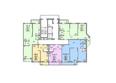 МАТРЕШКИН ДВОР 105, дом 2: Блок-секция 1. Планировка 2-4 этажей