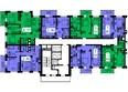 ТИХИЕ ЗОРИ, дом 2 (Красстрой): 1 секция. Планировка 7 этажа