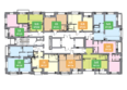 На Покатной, дом 2: Планировка типового этажа ЖК На Покатной