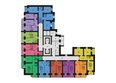 Жилой комплекс ФЕСТИВАЛЬ ж/к, 7 дом, 4 этап, 2 оч: Планировка 2-7 этажей
