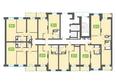 Жилой комплекс МАРСЕЛЬ, 6 этап: Блок-секция 16. Планировка типового этажа