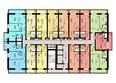 Жилой комплекс ГВАРДЕЙСКИЙ: Планировка типового этажа
