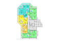 Жилой комплекс АТЛАНТЫ: Блок-секция 1. Планировка 1 этажа