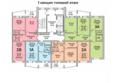 Жилой комплекс ПРИОЗЕРНЫЙ, дом 3: Блок-секция 1. Планировка типового этажа
