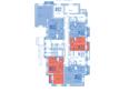 Жилой комплекс ВЕРХНИЙ БУЛЬВАР, дом 3, Б/С «В» и «Г»: Блок-секция Г. Планировка типового этажа