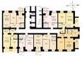 ДРУЖНЫЙ-3, дом 4: Блок-секция 1. Планировка 3-8 этажей