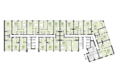 Жилой комплекс ПАНОРАМА, дом 3: Планировка 2-4 этажей