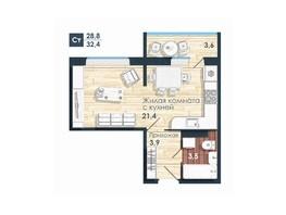 Продается Студия ЧИСТАЯ СЛОБОДА, дом 82, 32.4  м², 2740000 рублей