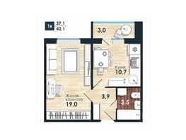 Продается 1-комнатная квартира ЧИСТАЯ СЛОБОДА, дом 82, 40.2  м², 3100000 рублей