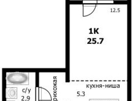 Продается 1-комнатная квартира Монтажников ул, 25.7  м², 1721900 рублей