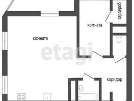 1-комнатная квартира, 53.4  м², 12/14 этаж