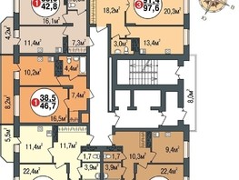 Продается 2-комнатная квартира ПОКРОВСКИЙ, б/с 3, 4, 5, 66.3  м², 4000000 рублей