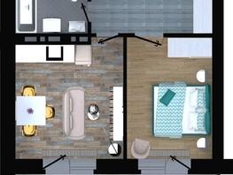 Продается 2-комнатная квартира ApartRiver, апарт-отель, 36.9  м², 4999950 рублей