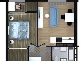 Продается 2-комнатная квартира ApartRiver, апарт-отель, 45.71  м², 4392457 рублей