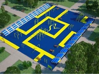 В новокузнецком парке Гагарина летом откроют площадку для уличных тренировок