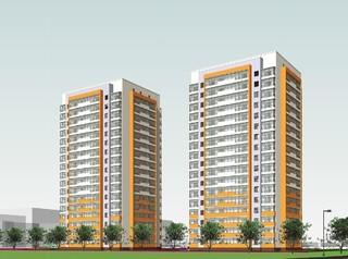 Новый жилой комплекс строится в Октябрьском районе за театром «Галерка»