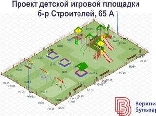 В микрорайоне «Верхний бульвар» особый подход к детским площадкам
