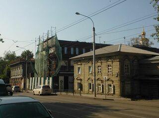 В центре Иркутска сносят незаконное здание
