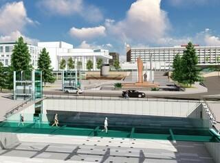 Проект пешеходного перехода от Театральной площади разработает  «Красноярскгражданпроект»