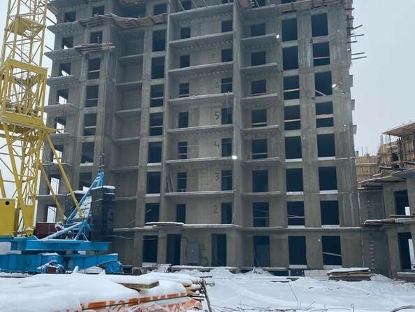 Ход строительства 11 января 2021. Блок-секция 2