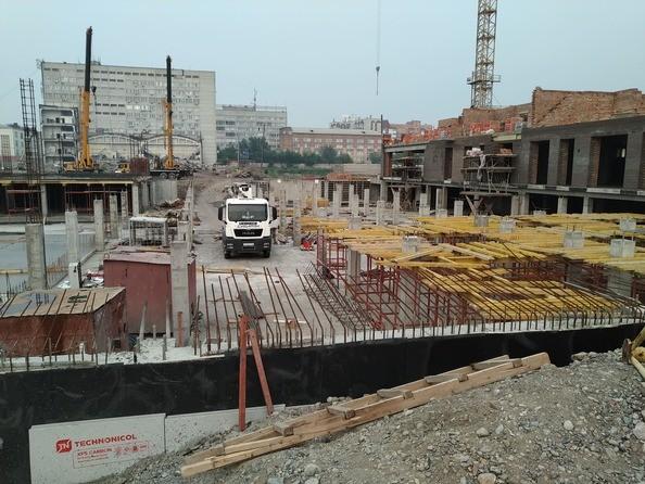 Фото Жилой комплекс Новоостровский, 1 очередь, Ход строительства 25 июля 2019 г