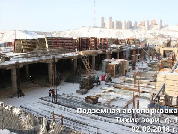 Фото Жилой комплекс ТИХИЕ ЗОРИ, дом 1 (Красстрой), Ход строительства 2 февраля 2018. Подземная парковка