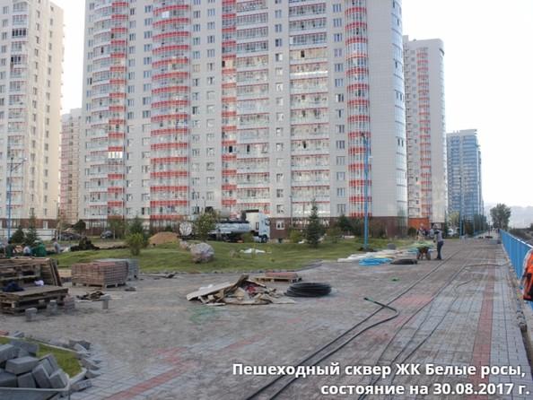 Фото Жилой комплекс БЕЛЫЕ РОСЫ, дом 31, Пешеходный сквер. 30 августа 2017