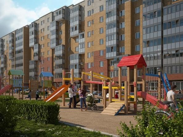 Макет Березина, дом 1. Детская площадка