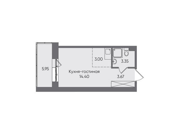 Планировки Жилой комплекс НОВЫЕ ГОРИЗОНТЫ, б/с 1 - Планировка однокомнатной квартиры 30,37 кв.м