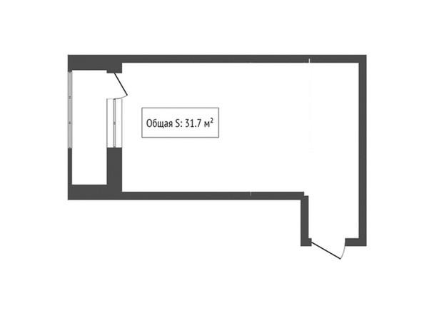 1-комнатная 31.7 кв.м